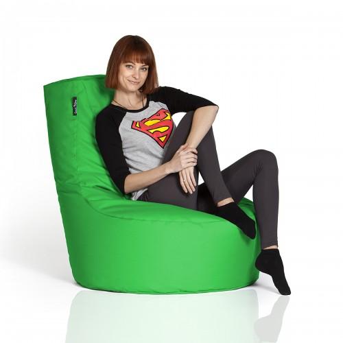 CrazyShop sedací vak KŘESLO, zelená