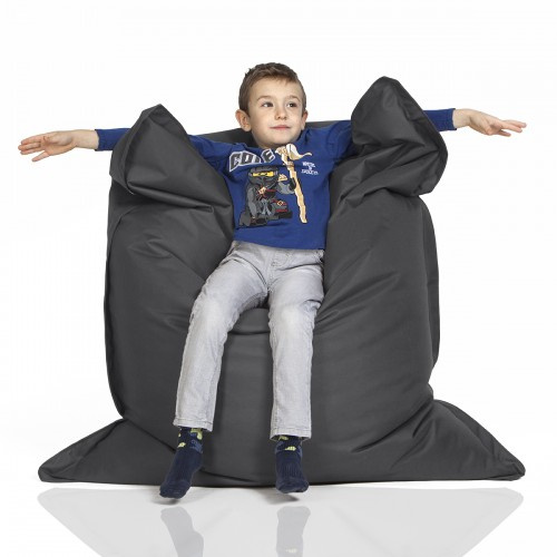 CrazyShop sedací vak KIDS, tmavo šedá