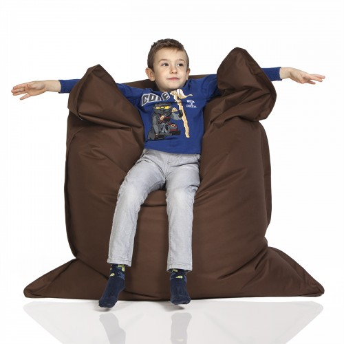 CrazyShop sedací vak KIDS, hnedá