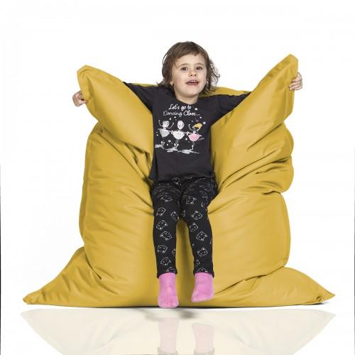 CrazyShop sedací vak KIDS, žltá