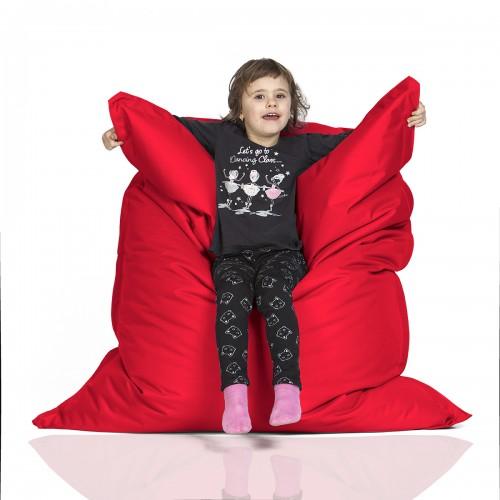 CrazyShop sedací vak KIDS, červená