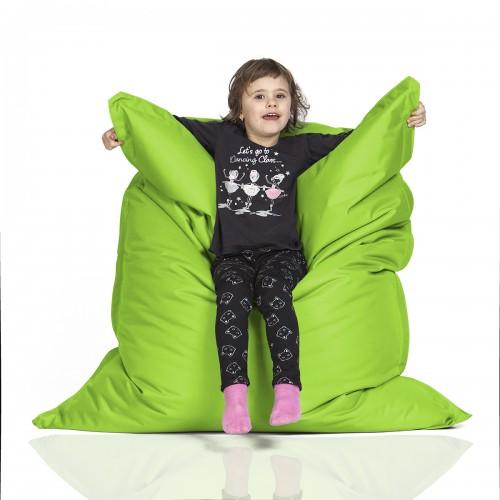 CrazyShop sedací vak KIDS, neónovo zelená