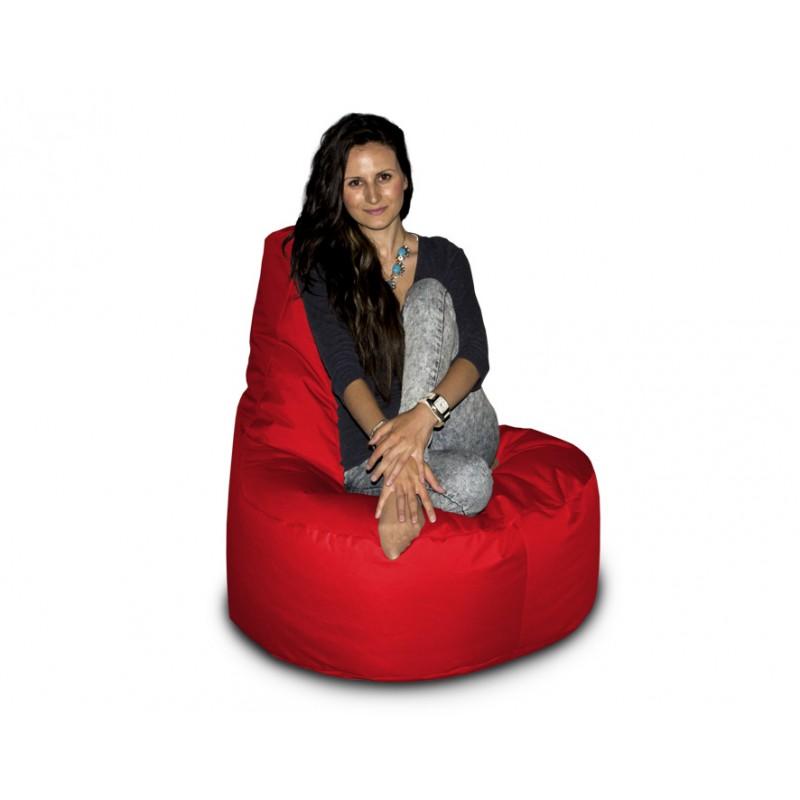 CrazyShop sedací vak KŘESLO, červená