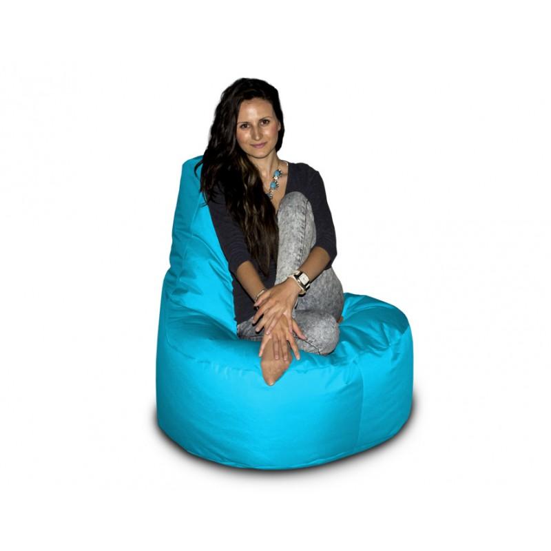 CrazyShop sedací vak KŘESLO, modrá