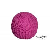 Pletený puf CRAZYSHOP SOLID Mini, ružový (ručne pletený)