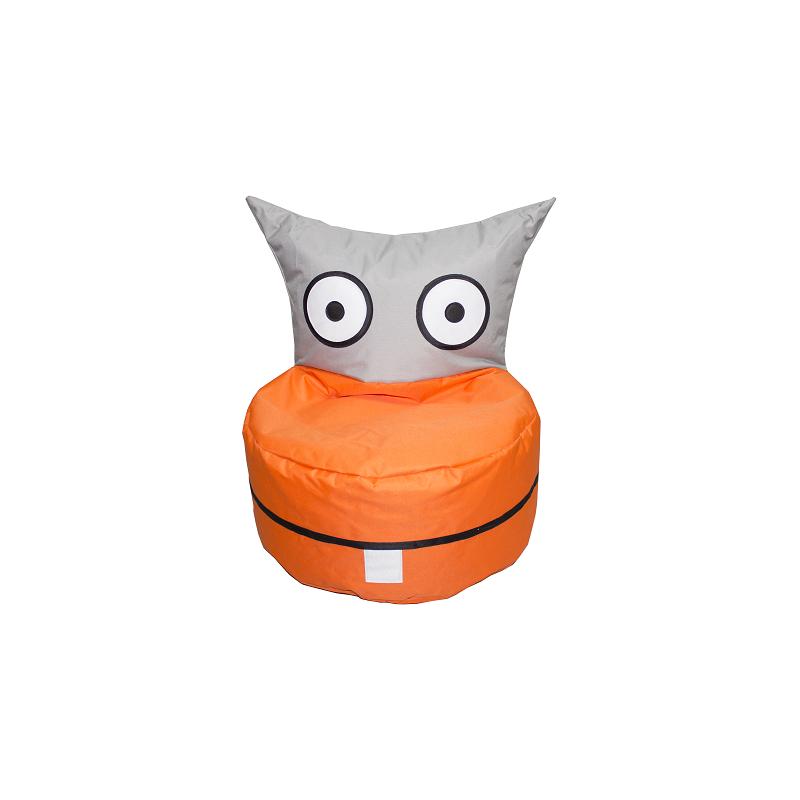 Sedací pytel CRAZYSHOP TROLIK, šedo-oranžová