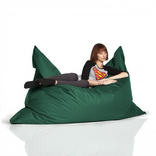 CrazyShop sedací vak STANDARD 144×180 cm, tmavě zelená