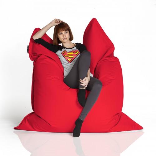 CrazyShop sedací vak STANDARD 144×180 cm, červená