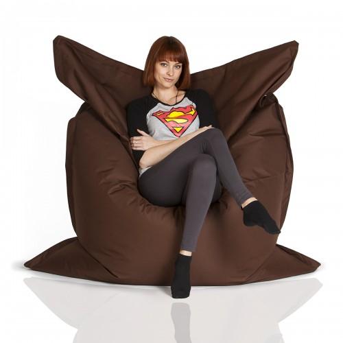 CrazyShop sedací vak STANDARD 144×180 cm, hnědá