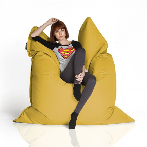 CrazyShop sedací vak STANDARD 144×180 cm, žltá