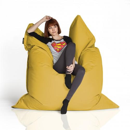 CrazyShop sedací vak STANDARD 144×180 cm, žlutá