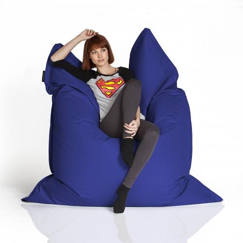CrazyShop sedací vak STANDARD 144×180 cm, tmavo modrá