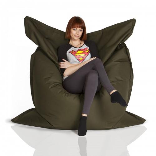 CrazyShop sedací vak STANDARD 144×180 cm, vojenská zelená