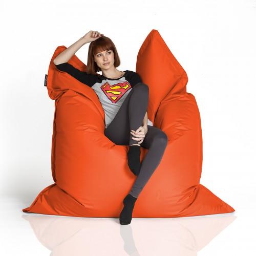 CrazyShop sedací vak STANDARD 144×180 cm, oranžová